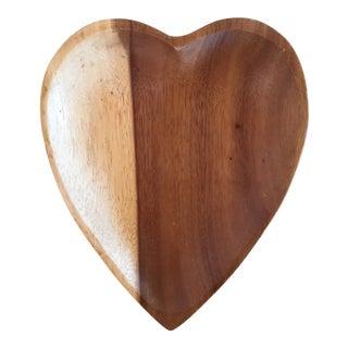 Two-Toned Teakwood Heart Dish