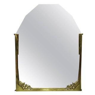 French Art Deco Brass Mirror