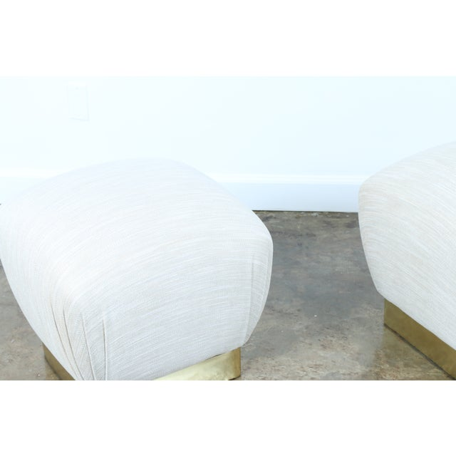 Image of Karl Springer Soufflé Ottomans - A Pair