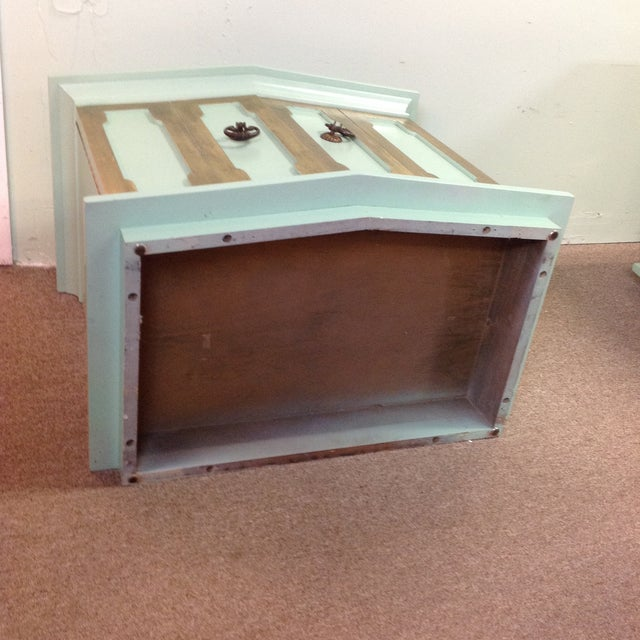 Vintage Painted Wood Side Tables - a Pair - Image 6 of 8