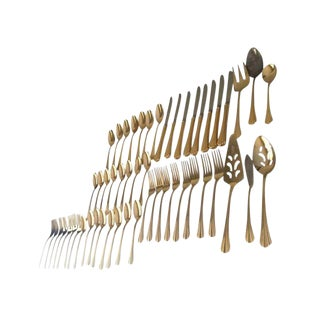 Reed & Barton Gold Electroplated Flatware Set - 48 Pieces