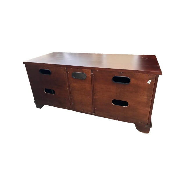 Image of Solid Mahogany Contemporary Entertainment Console