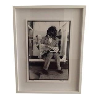 Rod Stewart Framed 1975 Museum Quality Photograph