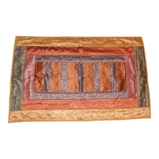 Vintage Handmade Wedding Sari Tapestry