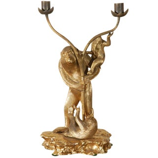 French, Ormolu Monkey Candelabra
