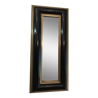 Black With Gold Trim Art Deco Mirror