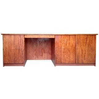 Gerald McCabe Bubinga Wood Console Desk