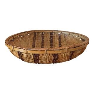 Round Striped Basket, Large