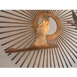 Image of Vintage Brass Sunburst Wall Art