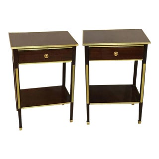 One Drawer Russian Style Bronze-Mounted Tables - A Pair