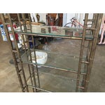 Image of 60s Vintage Hollywood Regency Faux Bamboo Bronze Patina Etagere