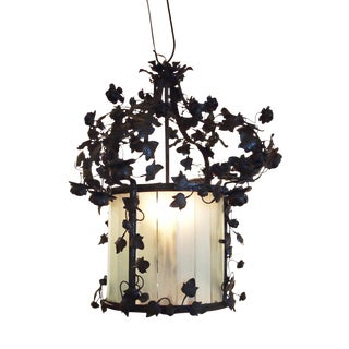 Italian Lantern with a Crown of Flowers