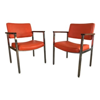 Vintage Mid-Century Modern Haskell Office Chairs - A Pair