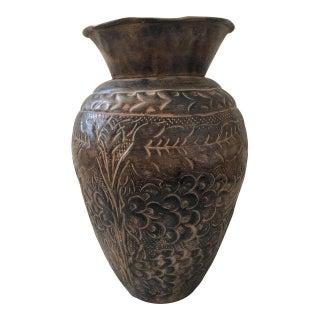 Boho Chic Metal Vase