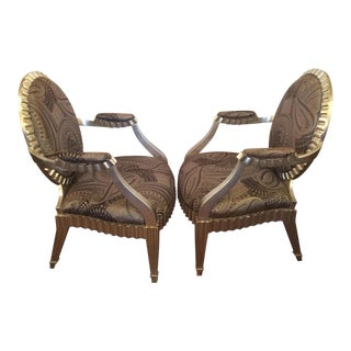Donghia Grande Flute Occasional Chairs