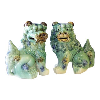 Mid-Century Asian Foo Dogs - A Pair