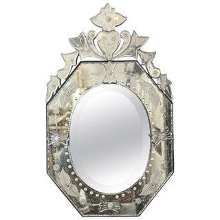 Venetian Style Small Octagon Wall Mirror