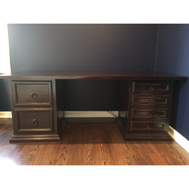 Pampa Furniture Traditional Dark Wood Desk - Image 5 of 5