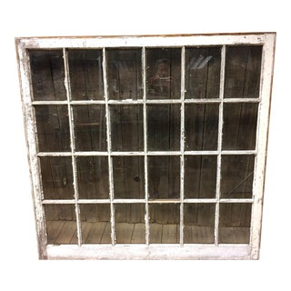 Vintage 24 Pane Wood Window
