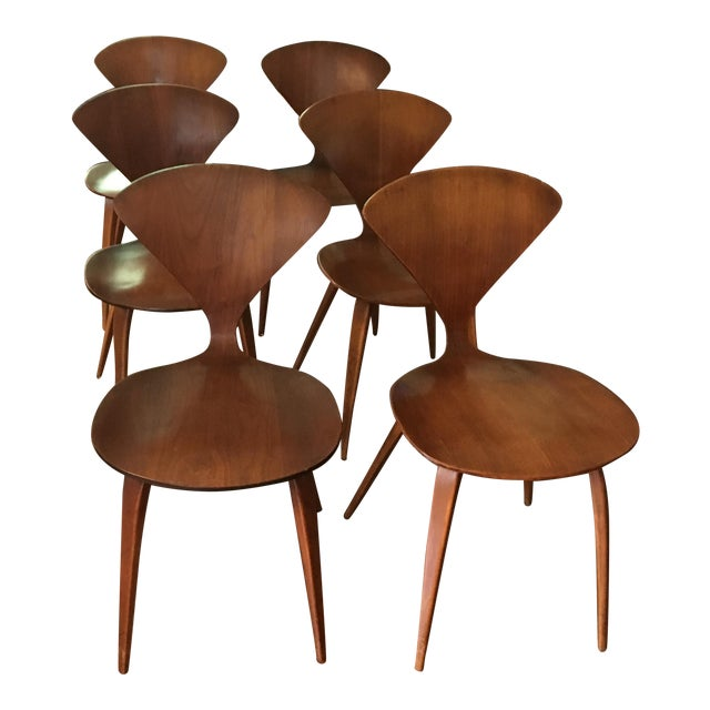 Mid-Century Modern Norman Cherner for Plycraft Chairs - Set of 6 - Image 1 of 8