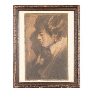 """Native American Woman Portrait"" Original Photograph by Edward Curtis"
