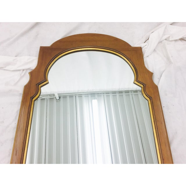 Hollywood Regency Gold Trim Wooden Mirror Chairish