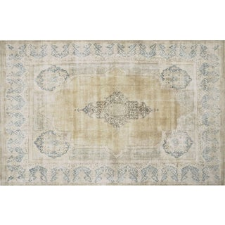 "Vintage Distressed Persian Rugs, 10'8"" x 16'3"""