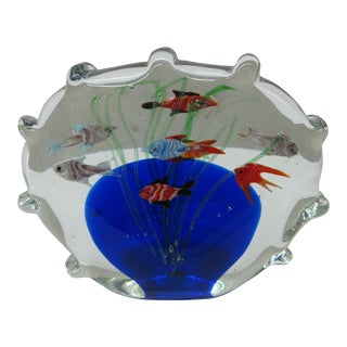 Little Glass Aquarium Paperweight