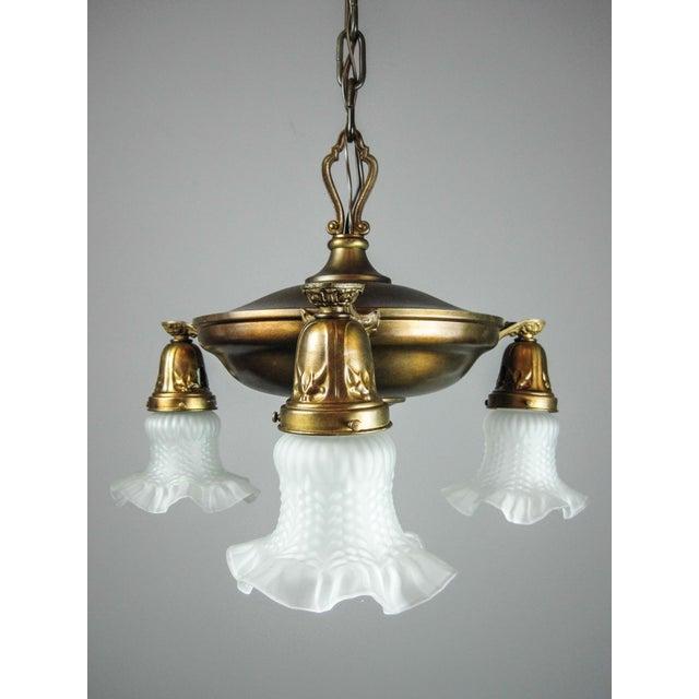 Original Pan Light Fixture (3-Light) - Image 3 of 8