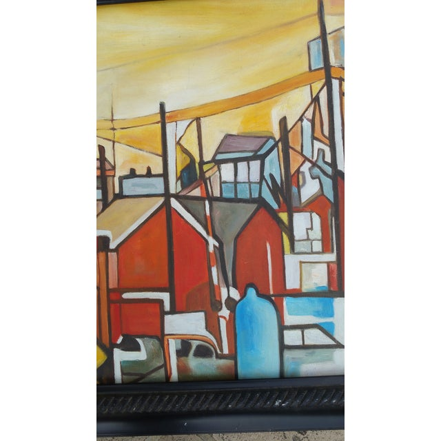 Image of Factory Chimney Oil Painting