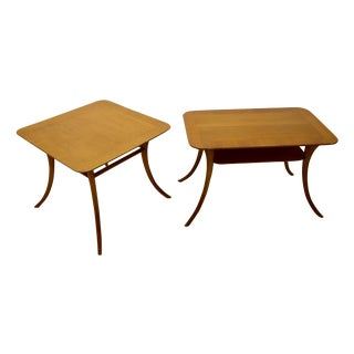 TH Robsjohn-Gibbings Mahogany Side Tables - A Pair