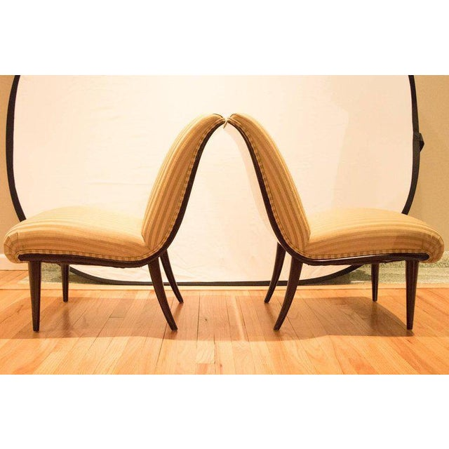 Viennese Biedermeier Style Art Deco Flare Slipper Chairs - a Pair - Image 5 of 9