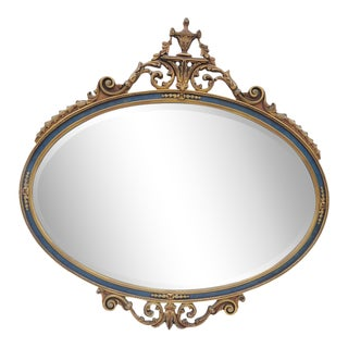 Italian Style Carved Oval Mirror