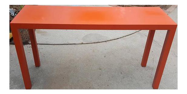 Lane Retro Orange Sofa Table