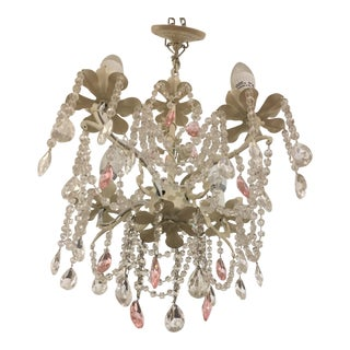 Shabby Chic Crystal Chandelier