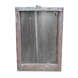 Pebbled Chicken Wire Glass in Galvanized Metal Frame