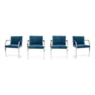 Velvet Brno Flat Bar Style Chairs - Set of 4
