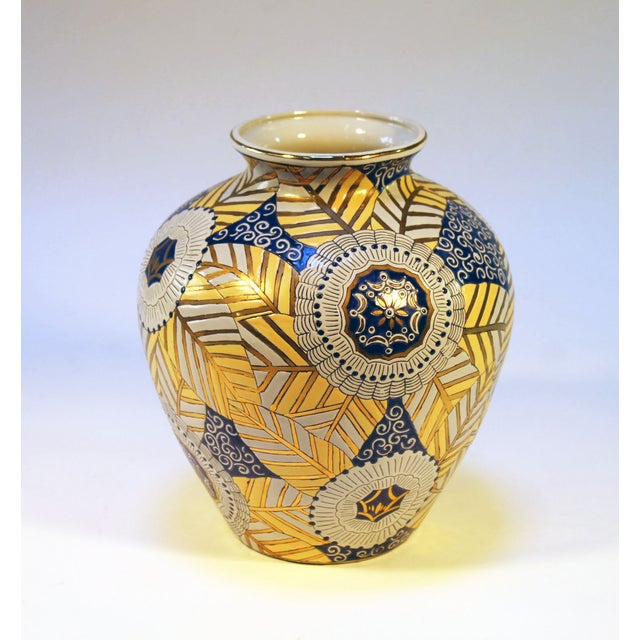 Image of Chinese Gold, Blue and White Vase