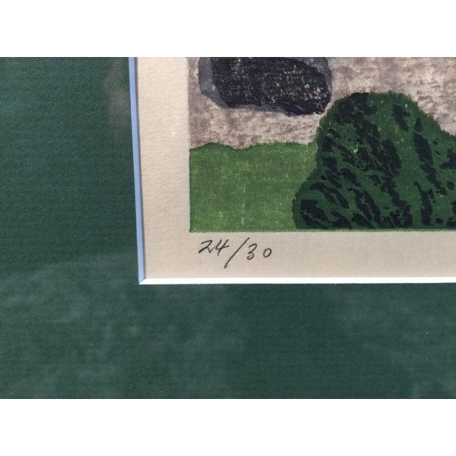 Takehiko Hironaga Large Woodblock Print - Image 6 of 8