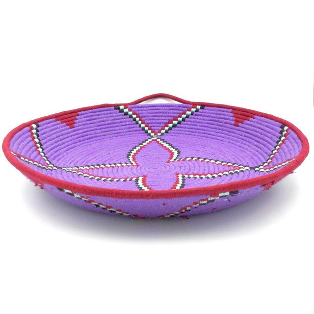 Purple and Red Moroccan Wool Tray - Image 3 of 8