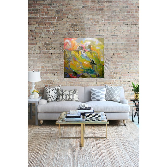 "Abstract Oil Painting by Trixie Pitts 36""x36"" - Image 2 of 2"
