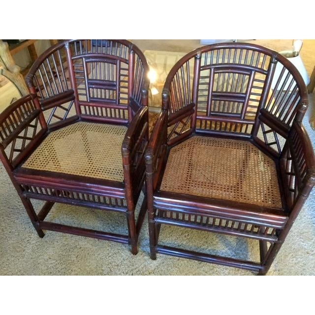 Elegant Bamboo & Rattan Chairs - a Pair - Image 4 of 4