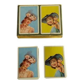 50s Pretty Lady Congress Pinochle Playing Cards