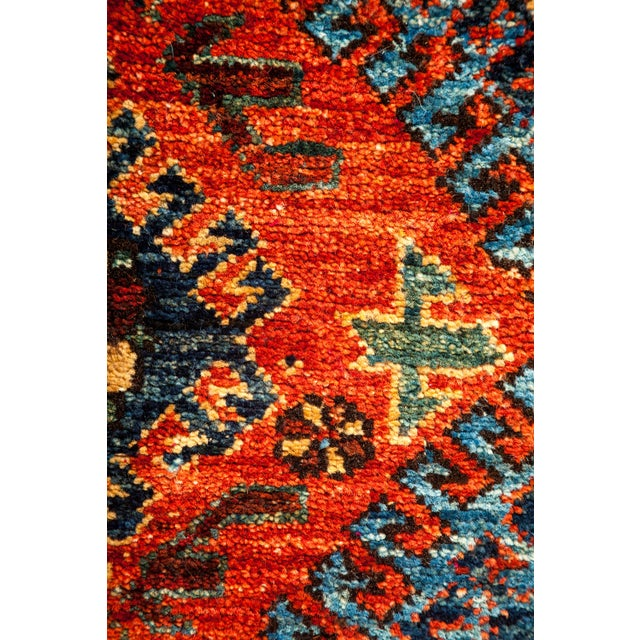 "New Tribal Traditional Hand Knotted Area Rug - 8'1"" x 10'3"" - Image 3 of 3"