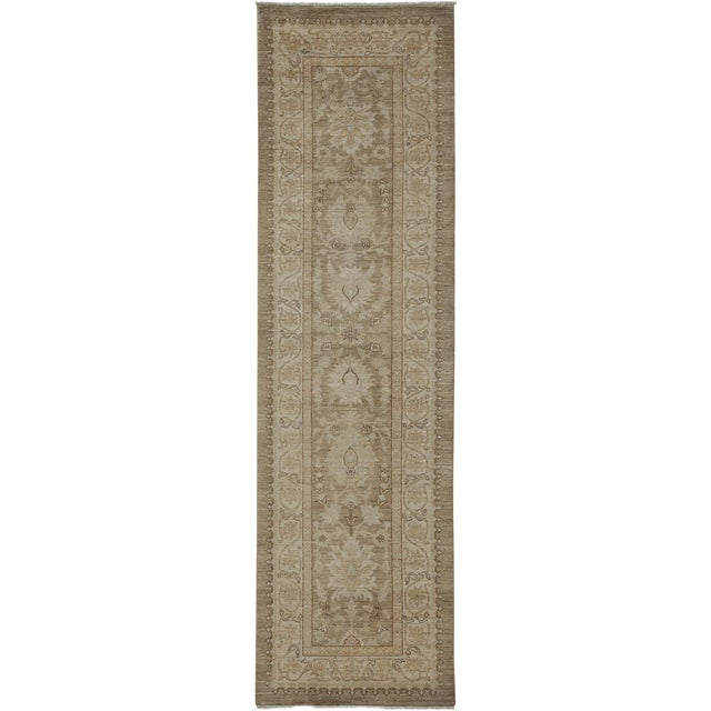 """Oushak Hand Knotted Runner - 2'9"""" X 9'9"""" - Image 1 of 3"""