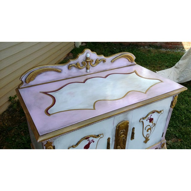 Custom Hand Painted Queen Anne Style Server - Image 7 of 9