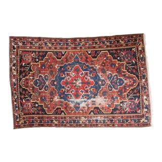 "Vintage Persian Baktiari Rug - 4'6"" X 6'4"""