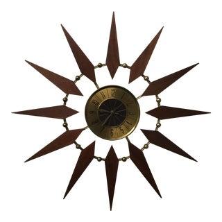 Mid Century Atomic Elgin Starburst Clock