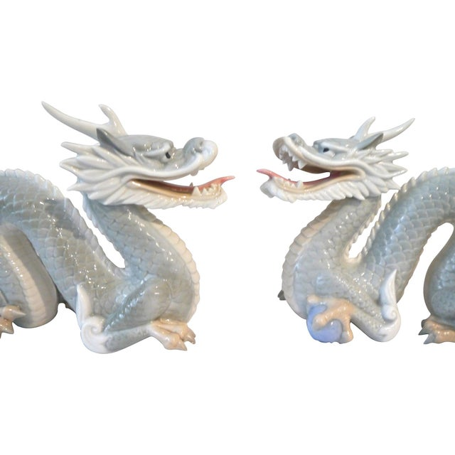 Vintage Japanese Porcelain Dragons - A Pair - Image 3 of 5