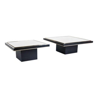 Roger Vanhevel Pair of Coffee Tables with 23 Carat Gold
